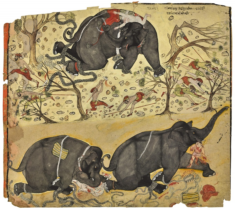 An Elephant Rampage, Noth India, Est.£1,500-2,000, Lot Sold £32,500