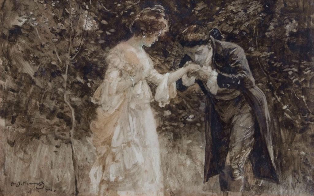 Munnings - Romantic Couple - pre-sale estimate £12000-£15000