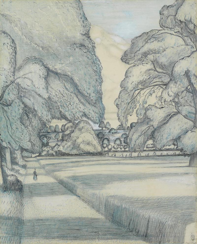 PAUL NASH (British, 1889-1946) The Peacock Path 45.7 x 38.1 cm. (18 x 15 in.)