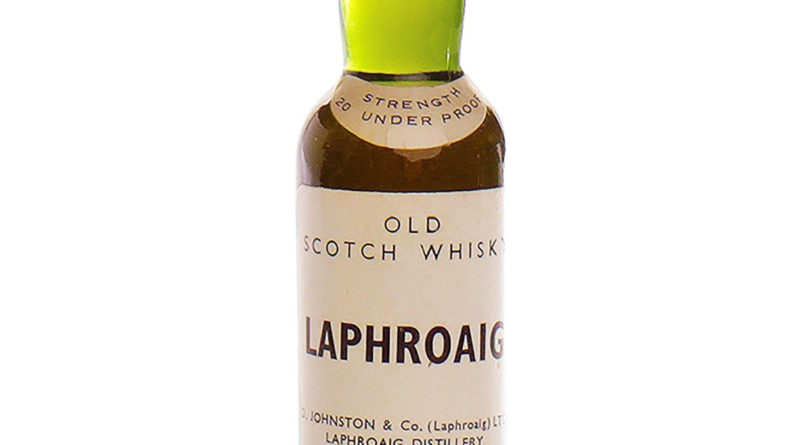 Rare miniature of Laphroaig sells for £830 at McTears Rare and Collectable Whisky auction
