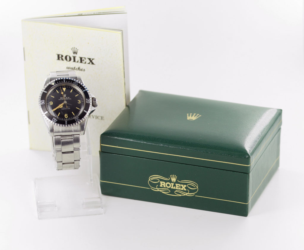 Rolex Oyster Perpetual Submariner wristwatch with orange numerals