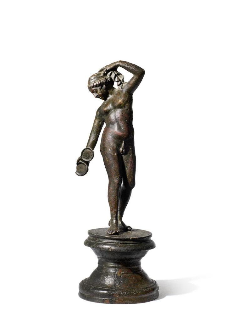 A Roman bronze figure of Hermaphroditos