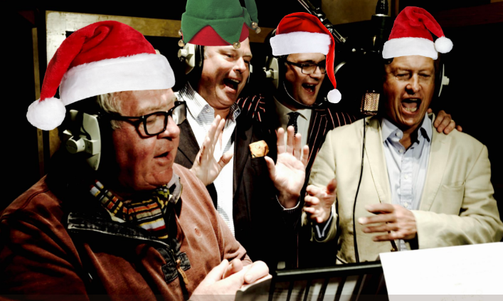 Charles Hanson and friends making Xmas record