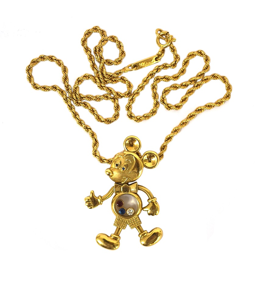 Chopard Mickey Mouse pendant, 18ct gold with gemstones c1970s £3750 - Shapiro & Co