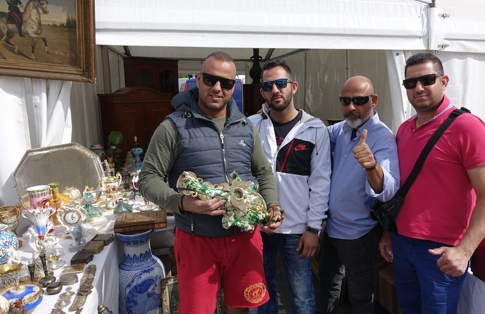 The quartet of Greek dealers at the IACF fair in Newark