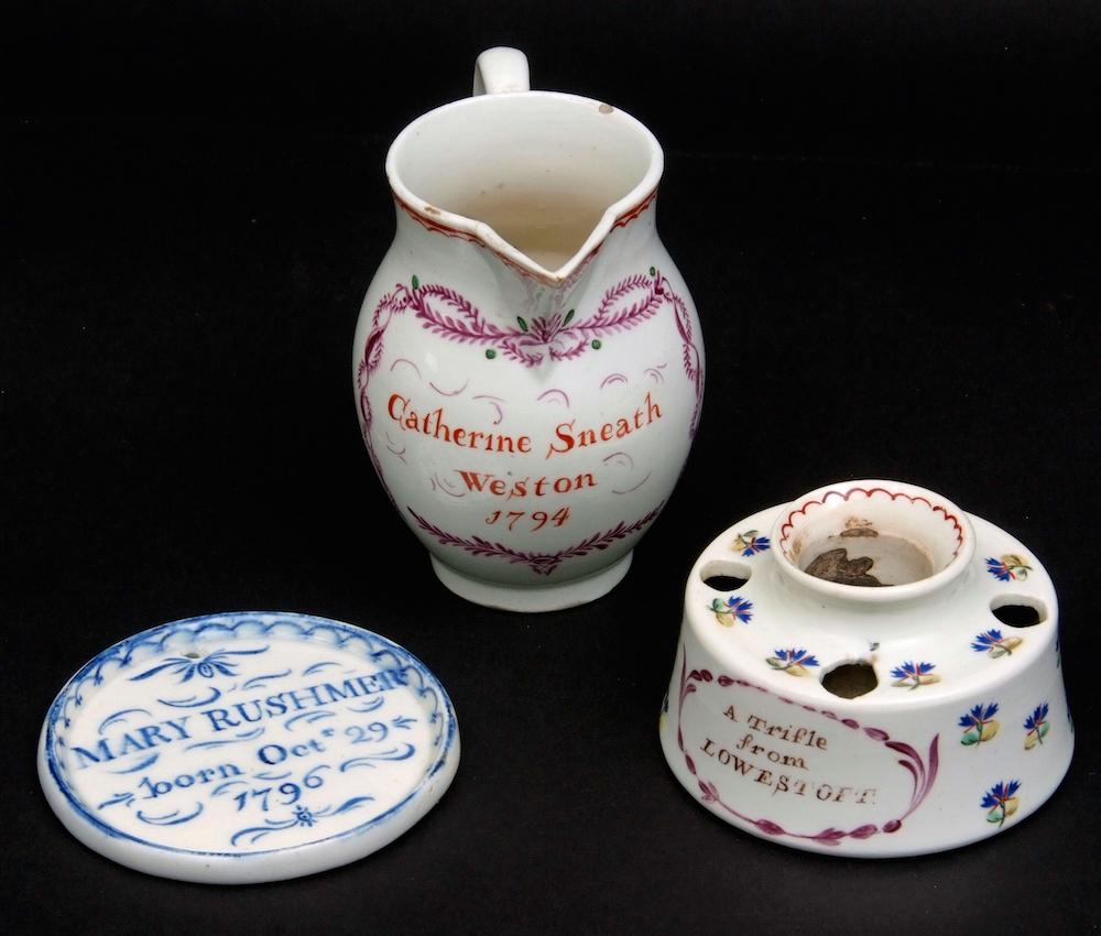 Keys Fine Sale Nov 2017 Lowestoft porcelain pieces