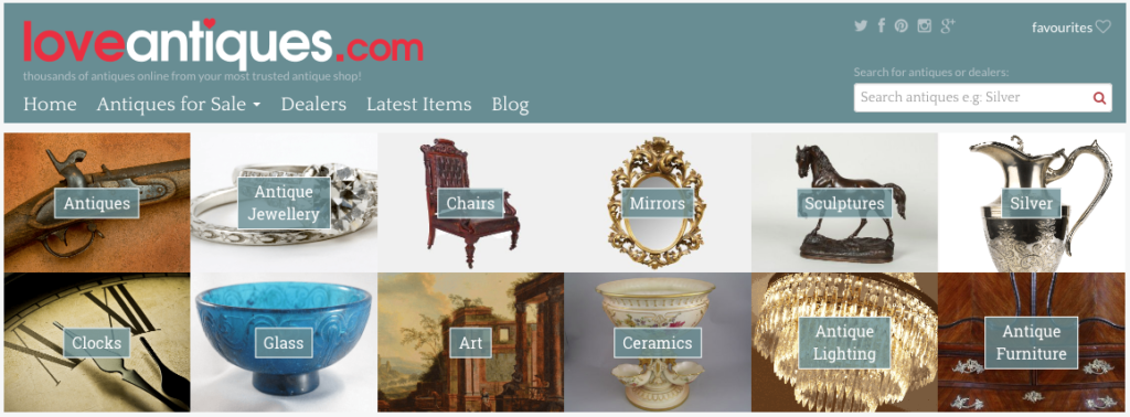 Love Antiques website