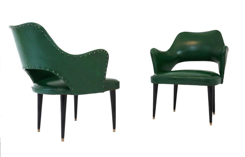 Osvaldo Borsani cocktail chairs (attrib.) Cupio Gallery 1800