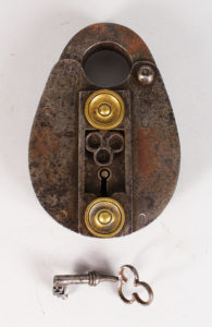 17th century polished steel lock