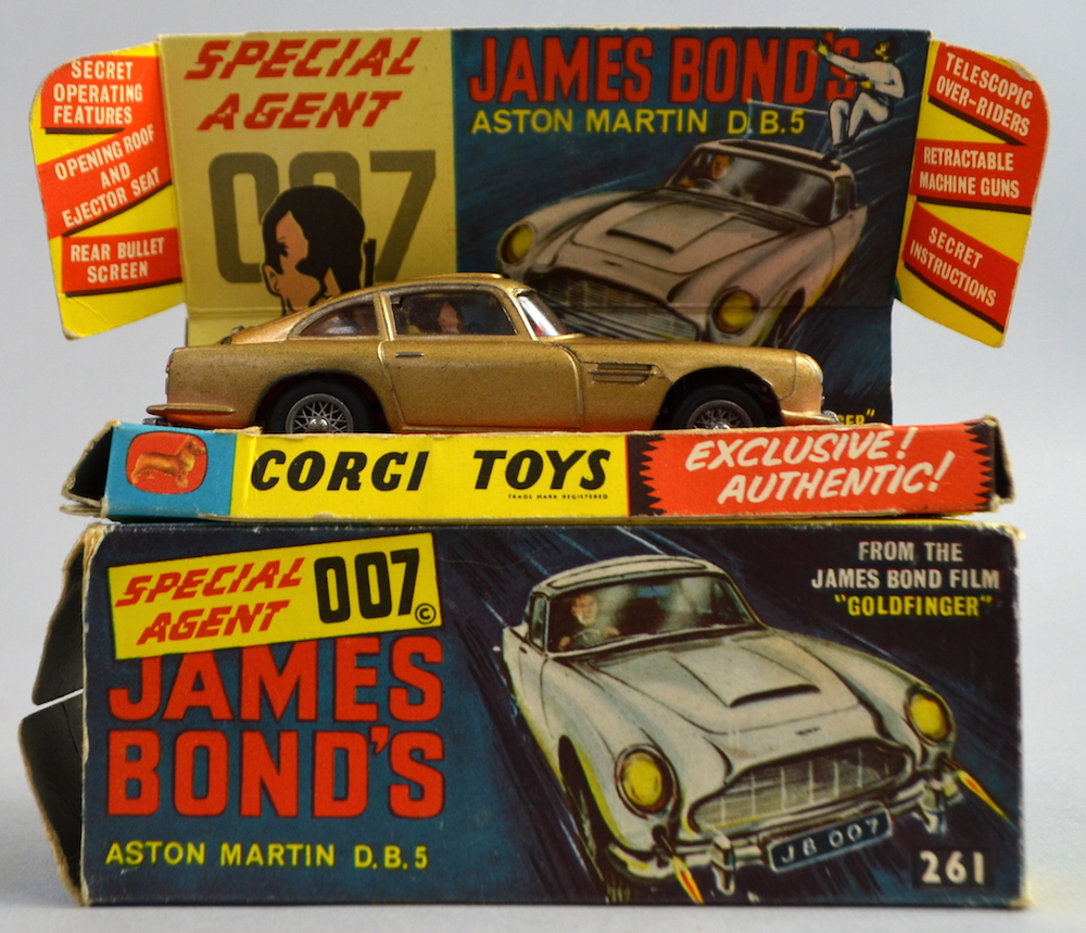 A boxed Corgi Toys' 261 'James Bond 'Aston Martin DB5' has a pre-sale estimate of between £60 and £100