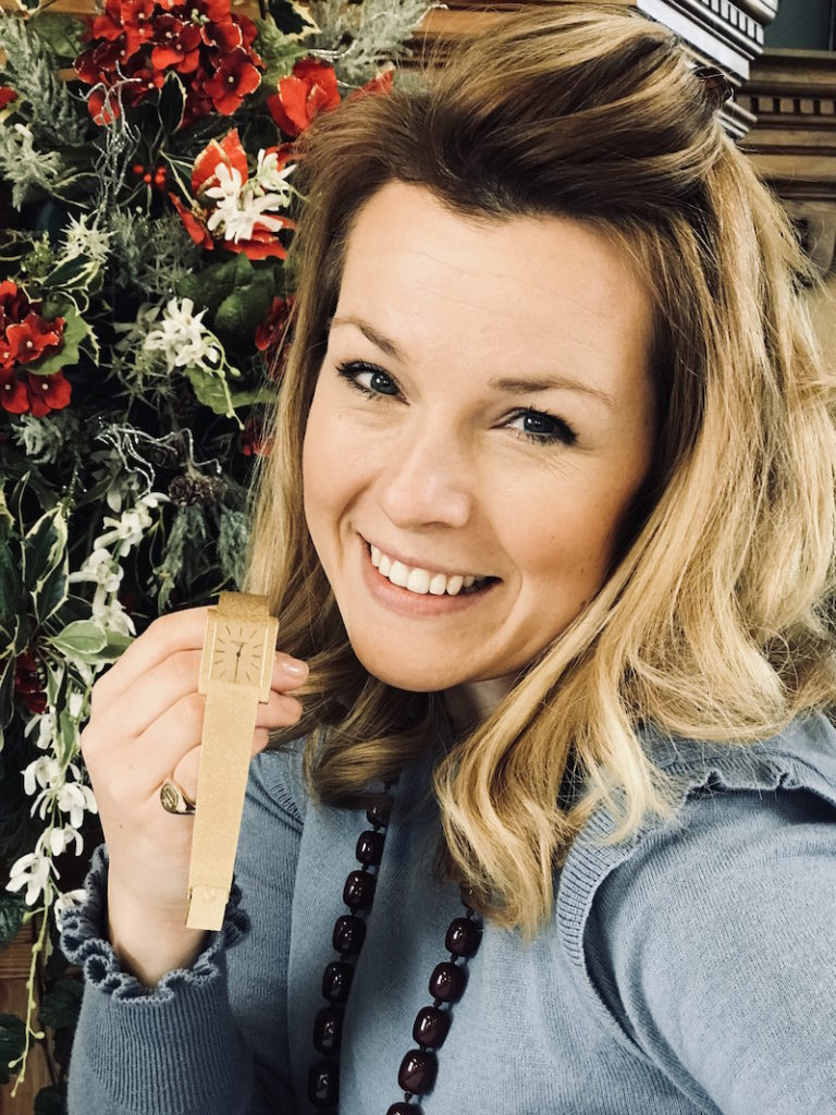 Christina Trevanion with the Patek Phillippe watch which sold for £3,100