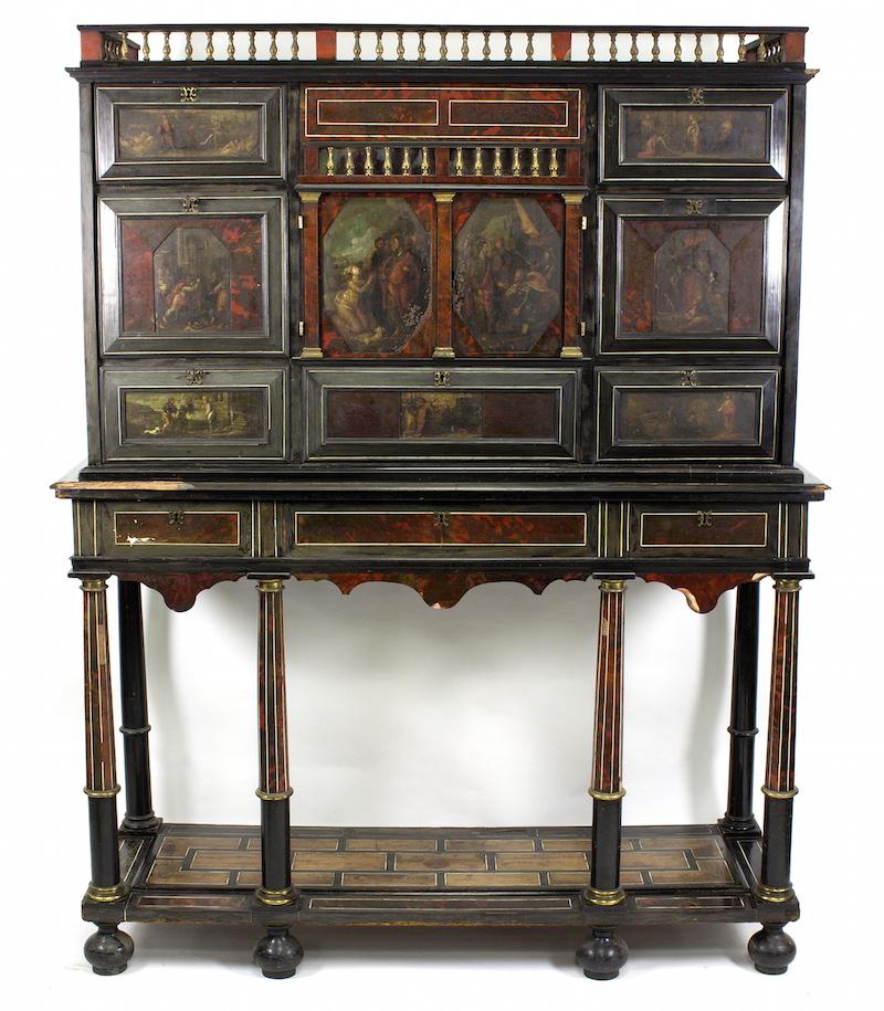 Flemish tortoiseshell cabinet