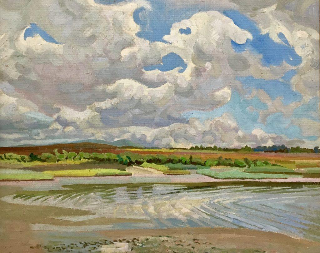 Edward D'Arcy Lister oil painting of Dorset coastline