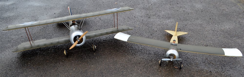 Two radio-controlled petrol aeroplanes with a Sanwa Conquest Mk.II remote control, and a box of sundry accessories, have been valued at between £60 and £100