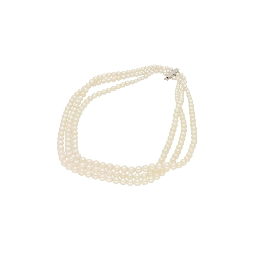 A freshwater pearl necklace available at Susannah Lovis.