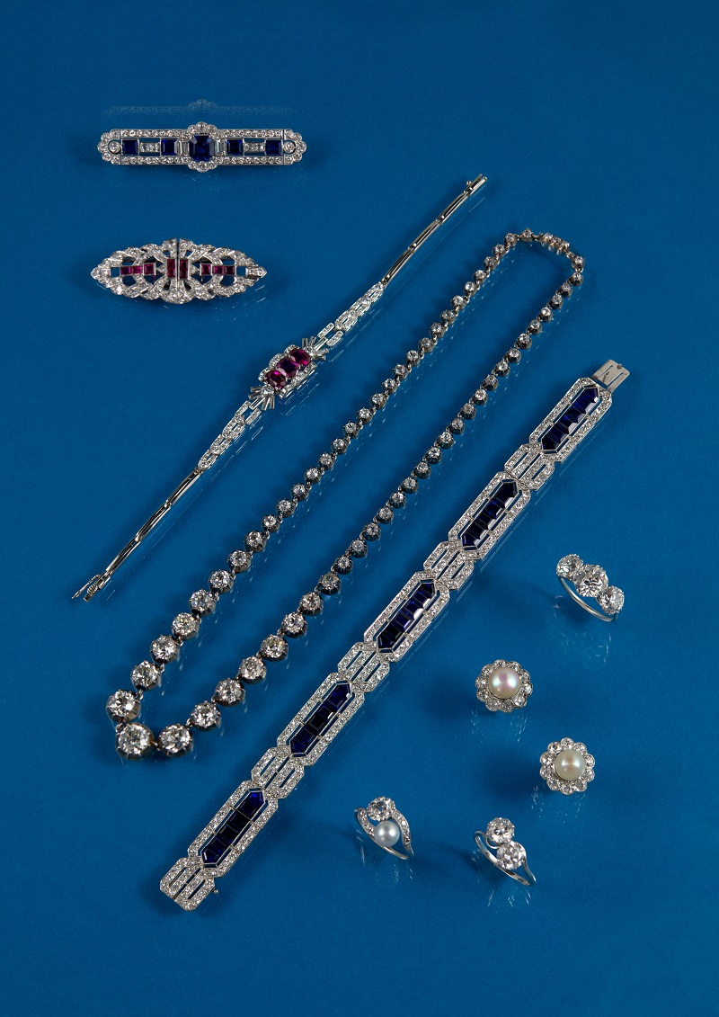 Antique jewellery collection stored in Somerset bank vault
