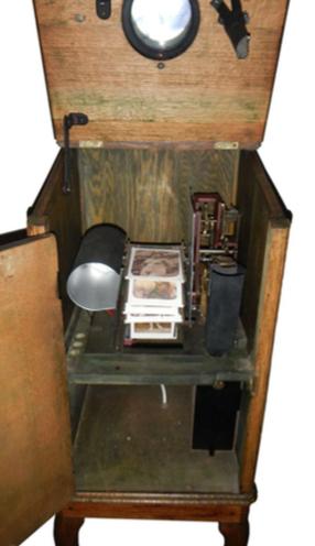 Victorian peep show machine