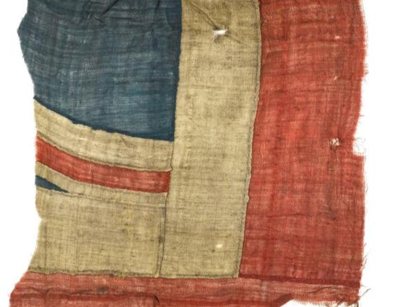 Fragment from Nelson's Union Jack at Battle of Trafalgar