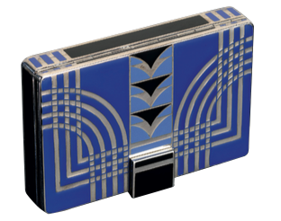 an antique art deco vanity case